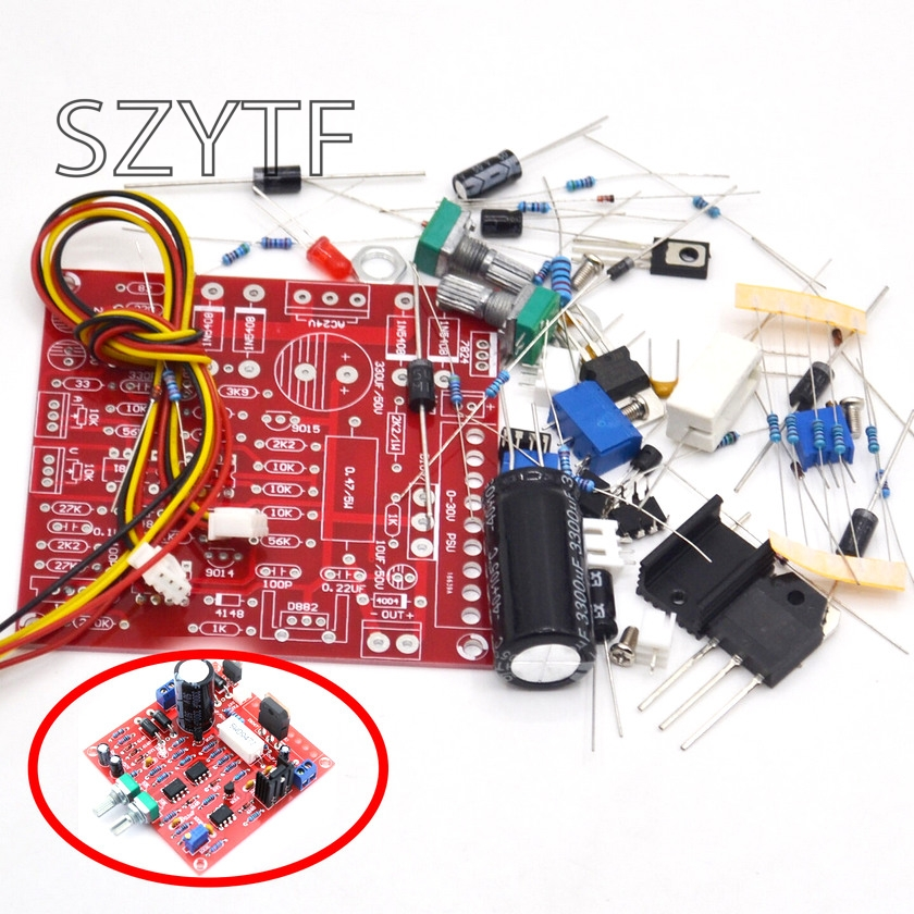 <font><b>0</b></font>-30V 2MA-3A adjustable DC power supply laboratory power short-circuit current limit protection <font><b>DIY</b></font> kit image