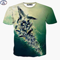 Mr.1991 New arrive Europe and America style personality 3D printed T-shirt for boy Flock of seagulls children's teens tops X24
