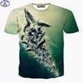 Mr.1991 chegam Novas Europa e América personalidade estilo 3D impresso T-shirt para o menino Flock of seagulls adolescentes das crianças tops X24