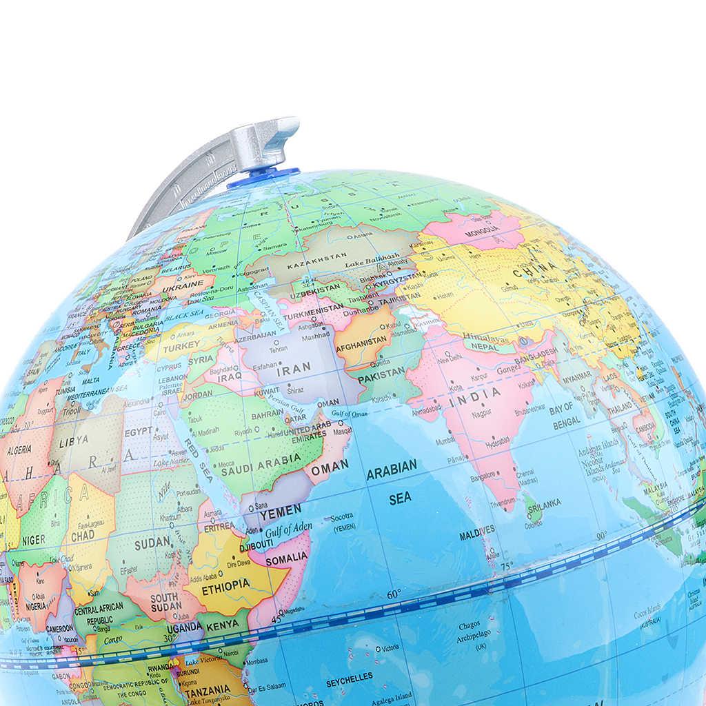 20 см деревянная база ABS Geographic World карта земной океан Глобус дома/Декор поставки обучающая игрушка