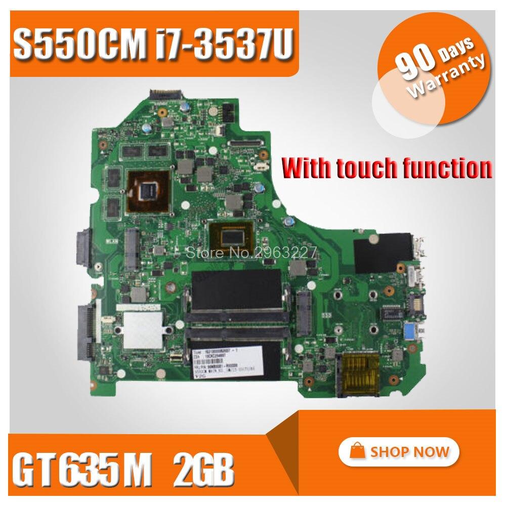 Avec fonction tactile S550CM carte mère i7 GT630 2 GB pour ASUS S550C S56C S550CB S550CM carte mère d'ordinateur portable S550CB carte mère