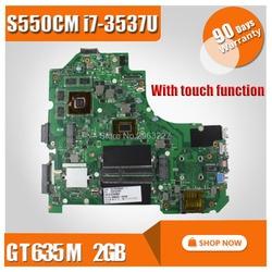 Z funkcja dotykowa S550CM płyta główna i7 GT630 2GB dla For Asus S550C S56C S550CB S550CM laptopa płyty głównej płyta główna w S550CB płyty głównej płyta główna