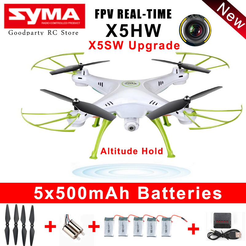 SYMA Drone With Camera HD Wifi FPV Selfie drones Quadrocopter RC Helicopter Quadcopter RC Dron Toy X5HW (X5SW Upgrade) fq777 rc drone dron 4ch 6 axis gyro helicopter wifi fpv rtf rc quadcopter drones with camera toy fq777 fq10a vs syma x5sw x5sw 1