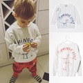 New BOBO CHOSES Basketball Loose Sweatshirts T-shirt Spring Autumn 2017 Kids Full Long Sleeve Baby Boys Girls Sports Tops Tee