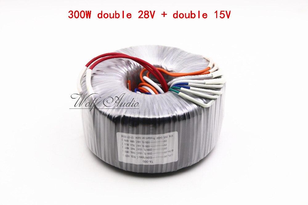 ФОТО 300W Toroidal Transformer For Amplifier / Speaker 28V-0-28V+15V-0-15V HIFI  Audio Power 300VA Transformer