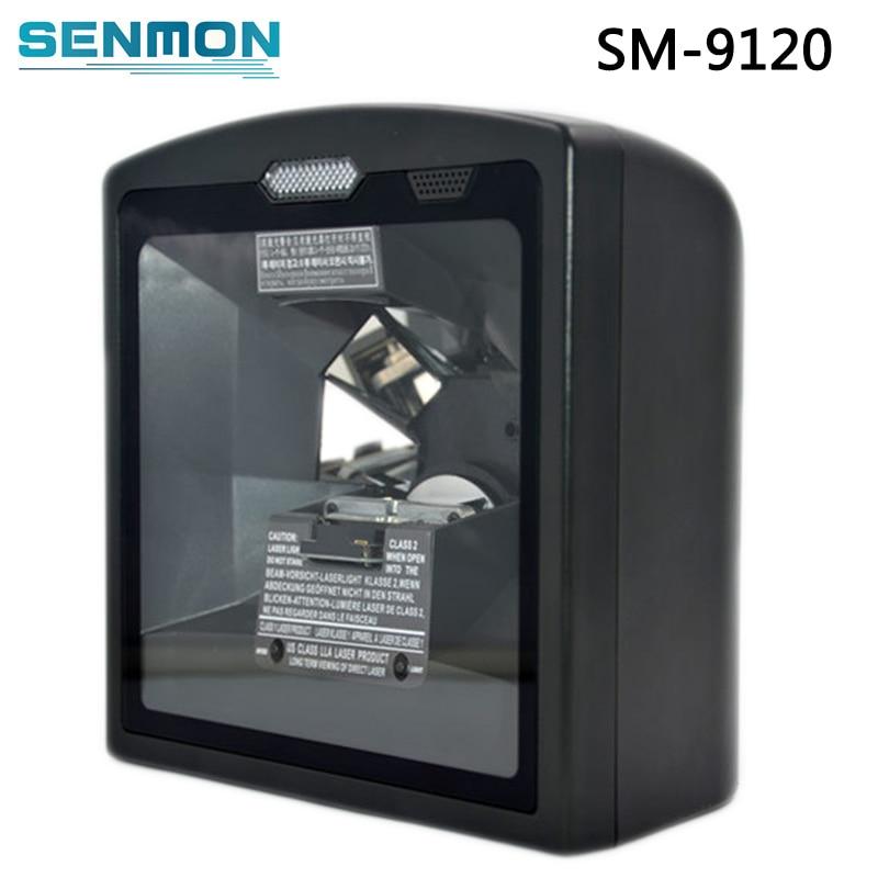 SM-9120 Fixed mount Vertical barcode scanner Handfree omnidirectional laser barcode reader 9120 r