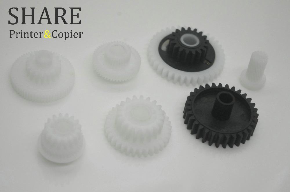 7pcs/set Compatible new Fuser Drive Gear  for HP HP5200 M5025 M5035 LBP3500 Fuser Drive Gear RU5-0575 RU5-0576 RU5-0577 new original laserjet 5200 m5025 m5035 5025 5035 lbp3500 3900 toner cartridge drive gear assembly ru5 0548 rk2 0521 ru5 0546