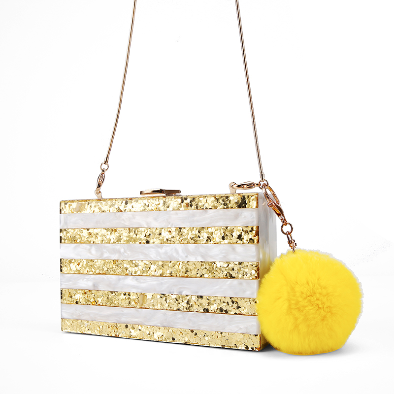Three Color Acrylic Gold Glitter Silver Glitter Pearl White Pearl Black Acrylic Purse Clutch Box Bags Bolsa Feminina Sac a Main big silver glitter cherise resin clutch bag acrylic glitter clutch bags fashion women flap shoulder messenger acrylic box clutch