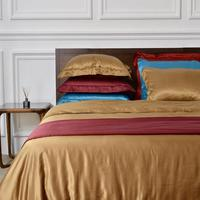 4 color Pure 100 Silk Bedding Set King Size Queen Bed Set Lace Duvet Cover Bed Sheet Pillowcase