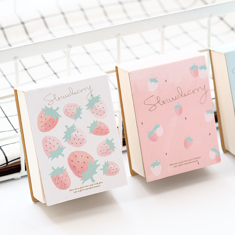 Strawberry Cute Pocket Mini Diary Blank Papers Freenote Notebook Hand Memo Pad Study Journal pink pineapple cute notebook diary hand memo study journal coil spiral notepad