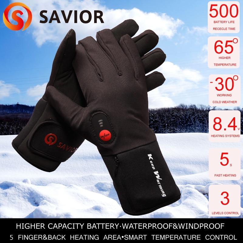 Спаситель велосипедные перчатки с подогревом Велосипеды для верховой езды Спорт на открытом воздухе Электрический тепла Перчатки зимние т...