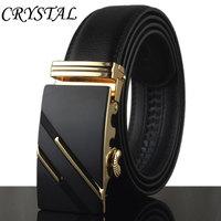Belt Men Cinto Ceintures Mens Belts Luxury Ceinture Homme Kemerler Automatic Metal Buckle Gold Genuine Leather