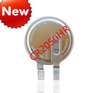 Image 2 - بطارية ليثيوم جديدة أصلية عالية الحرارة CR2050HR CR2050 2050 بطارية 3 فولت من ثاني أكسيد المنغنيز بطارية زر ليثيوم أيون بأرجل على الساق