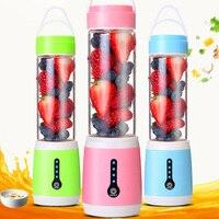 USB Orange Juicer 480ml Rechargeable Blender Mixer Maker 6 Blades Citrus Juicer Vegetable Fruit Smoothie Squeezer For Houseghold