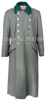 WWII GERMAN WH M36 FIELD GREY WOOL GREATCOAT COAT 31736