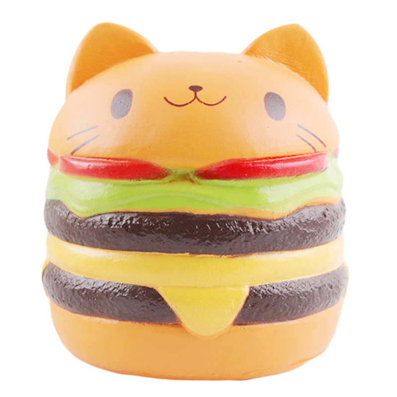 NEW Jumbo Squishy Toys For Children Slow Rising Scented Luky Cat Hamburger Squishy Gift Kawaii Squishies