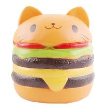 NEW Jumbo Squishy Toys For Children Slow Rising Scented Luky Cat Hamburger Squishy Gift Kawaii Squishies