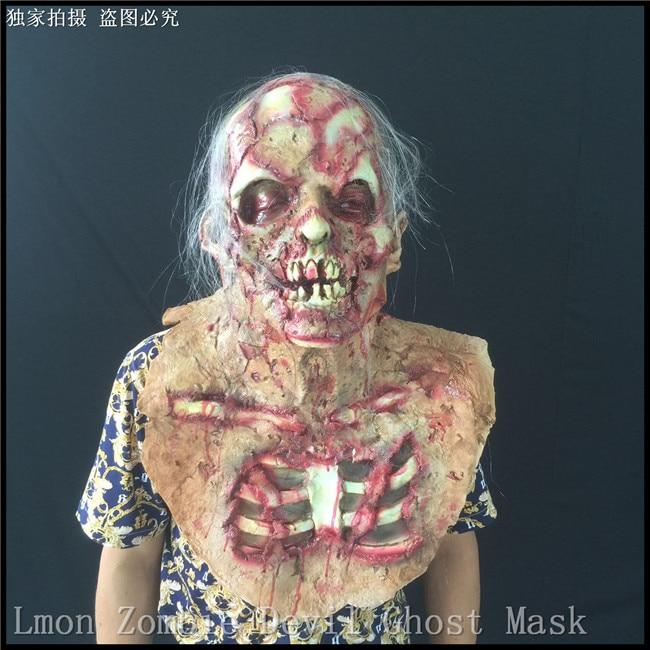 Top Halloween Zombie Demon Full Head Mask Latex Devils