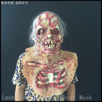 Top Halloween Zombie Demon Full Head Mask Latex Devils Scary Mask Halloween Prank Prop For Costume