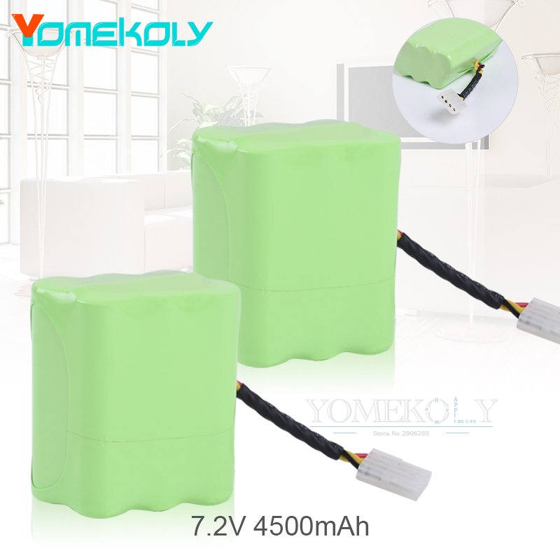 2pcs 7.2v 4500mAh Vacuum Cleaner Replacement Battery Pack for Neato XV-21 XV-11 XV-14 XV-15 Robot Vacuum Cleaner Parts neato spiral blade brush 6 piece brush blade and 1piece squeegee replacement pack xv 11 xv 12 xv 14 xv 15 xv 21