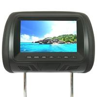 7 Inch Video Player LED Screen Camera Car Built In Speaker USB Seat Back Universal Headrest Monitor Multi Media Digital Support