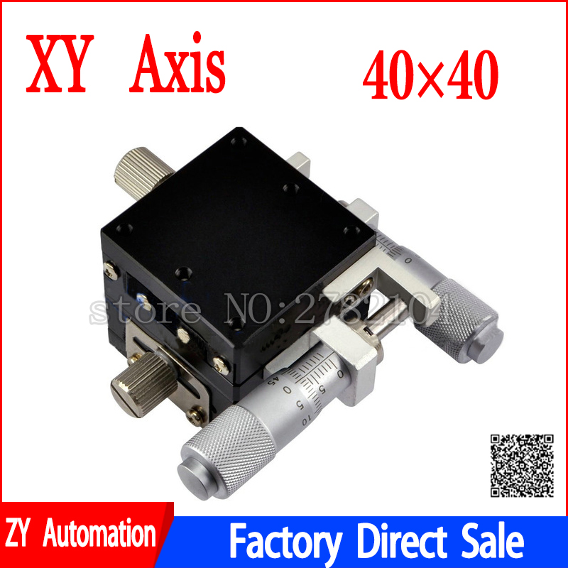 XY Asse 40*40 Spostamento Manuale Della Piattaforma Micrometro Scorrevole fase sfera In Acciaio guida XY40-C, LGY40-R, XY40-L