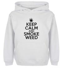 Unisex Fashion KEEP CALM AND SMOKE WEED Design Hoodie Men's Boy's Women's Girl's winter jacket Sweatshirt For Birthday Parties
