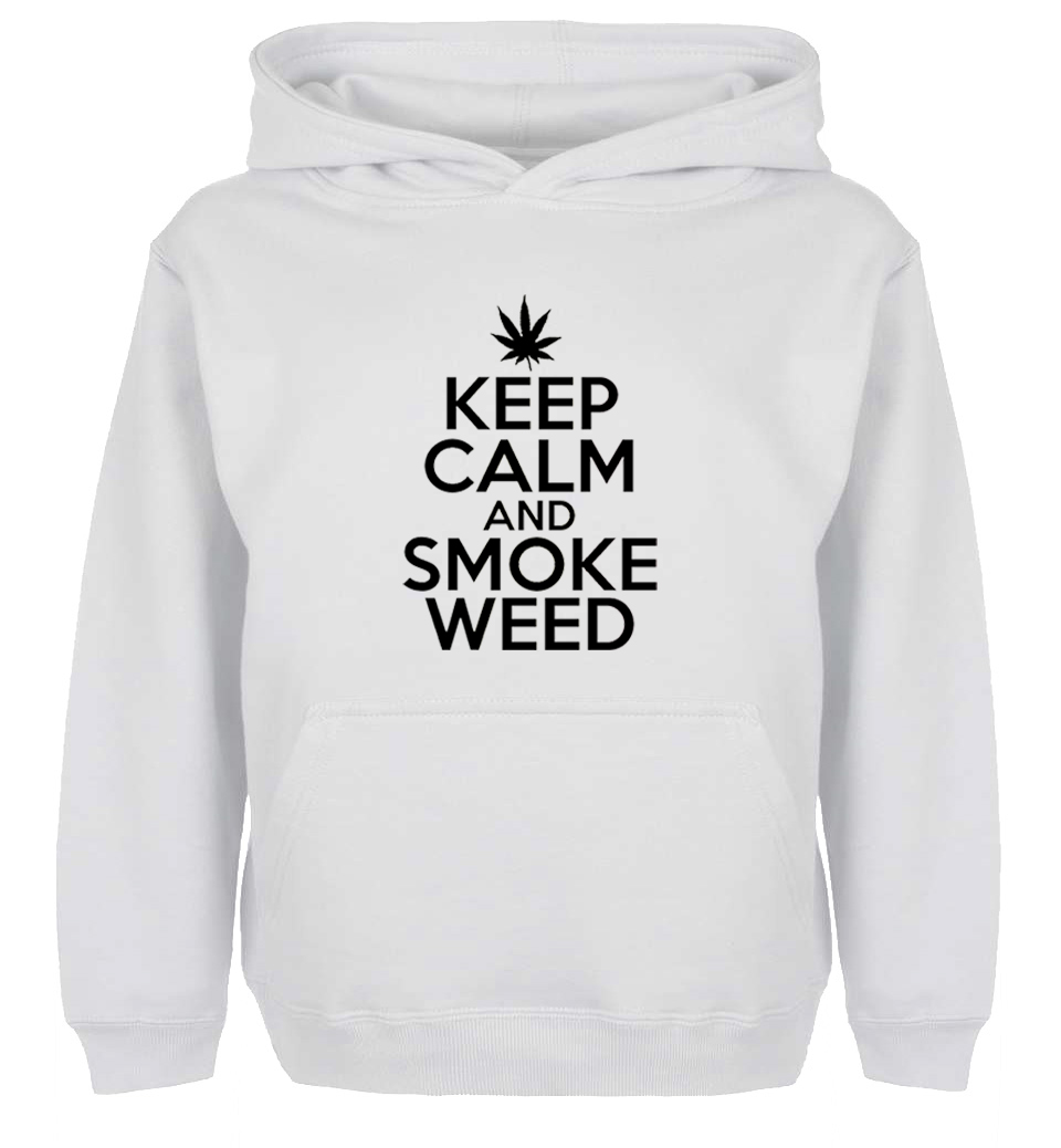 Unisex Fashion KEEP CALM AND SMOKE WEED Design Hoodie Mens Boys Womens Girls winter jacket Sweatshirt For Birthday Parties