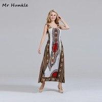 Mr Hunkle Women S MAXI Dress Spaghetti Strap White Cotton Dashiki Dresses African Print Dresses For