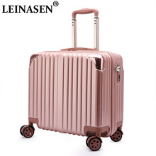 Suitcase Aluminum frame ABS+PC luggage 18 inch trolley suitcase travel password luggage bag Rolling luggage with spinner wheel(China)