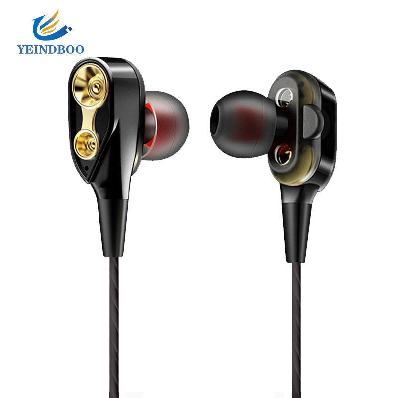 Inear Earphones Dual Driver Headset Running HIFI Auricular Audifonos HIFI Music Bass Earbuds For Phone Computer for xiaomi