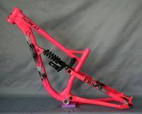 SALTO MTB Carbon Frame Full Suspension Mountain Bike Frame Aluminum Alloy Downhill Soft Tail MTB DH Bike Frame 26ER bike Cadre