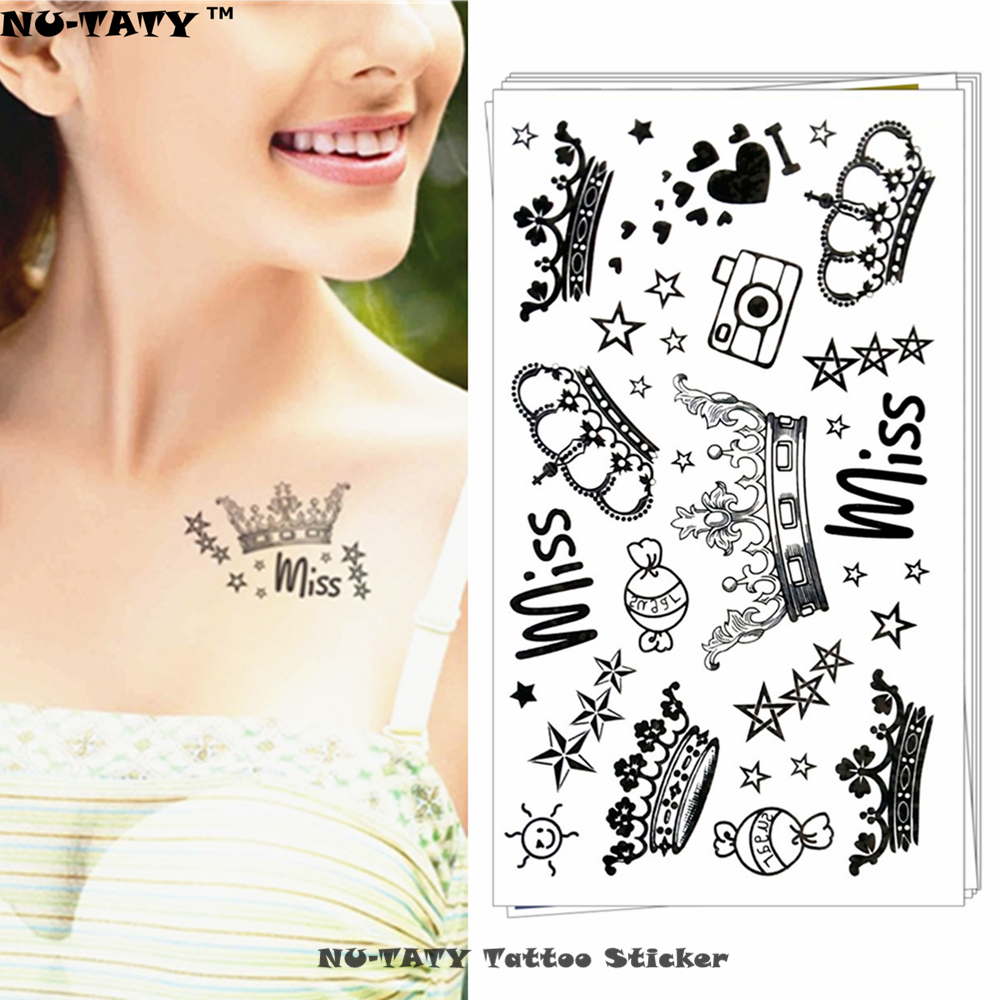 Nu Taty Imperial Queen Crown Temporary Tattoo Body Art Arm