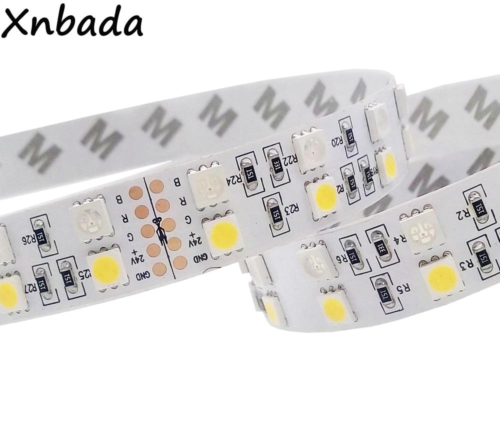 все цены на 5M RGBW RGBWW Led Strip Light 5050SMD Double Row 120Leds/m RGB+White/RGB+Warm White Flexible Led Tape Light DC24V онлайн