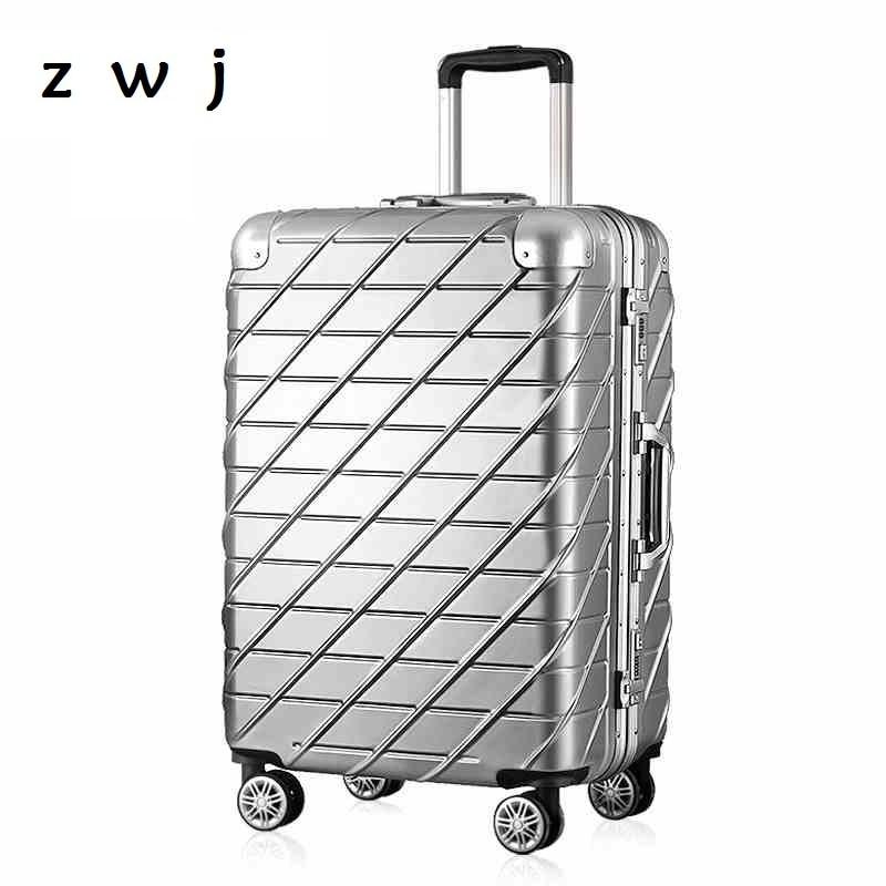 20,24 Zoll Aluminiumrahmen Abs Und Pc Rollgepäck Trolley Koffer Mit Rad