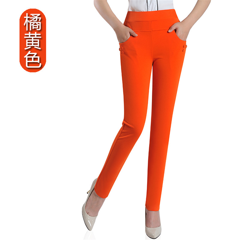 Summer Fashion Pencil Pants Women Spring Cute Candy Colors Pencil Pants Elegant Basic Stretch Big Size Mom Pants Leggings Pants 18