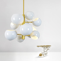 Modern LED Chandelier Lighting Home Decoration Ball Ceiling Fixtures For Kitchen Dining Room Hotel Villa Lustres