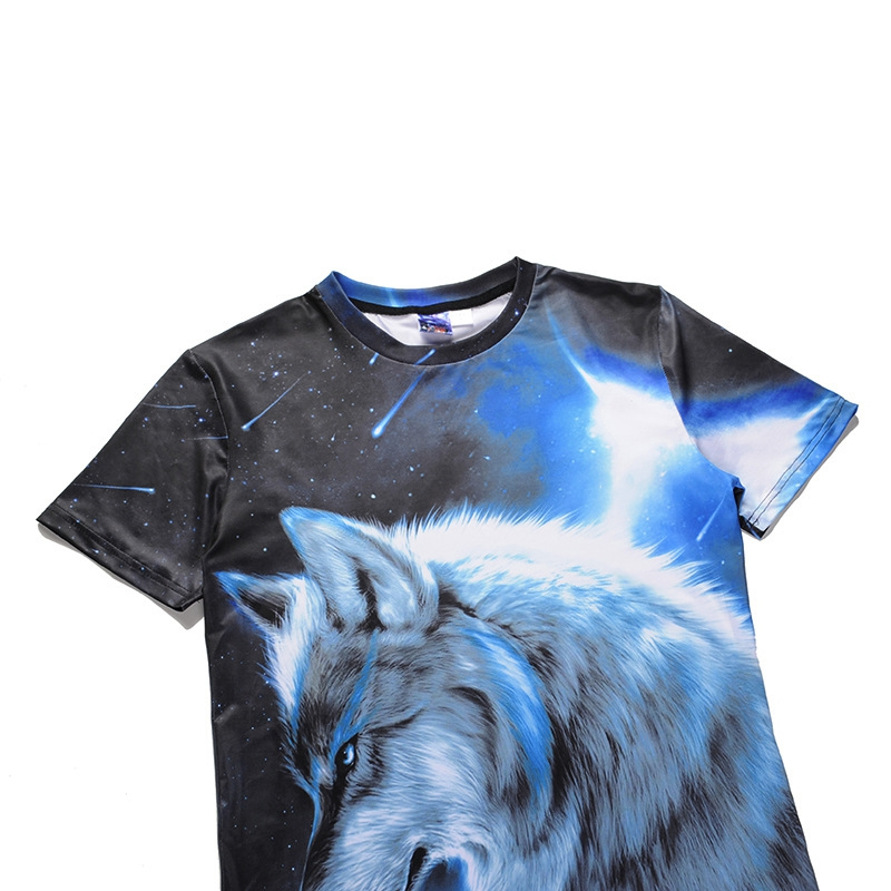 ca2278fde1e6 2018 High Quality Spring and summer Men s T Shirts Cosmic Star Wolf Printed 3D  T shirts Punk 3D Short Sleeve T Shirt S 2XL-in T-Shirts from Men s Clothing  ...