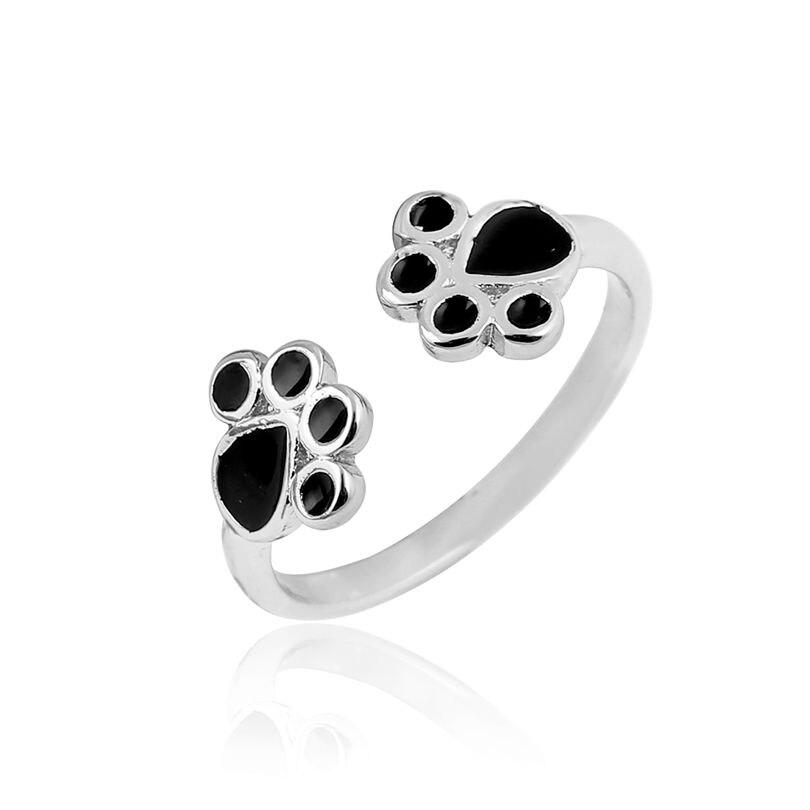Jisensp New Retro Ring Fashion Fashion Animal Cat Paw - Նորաձև զարդեր - Լուսանկար 3
