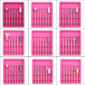 Image 1 - 6 uds. Cortadores de diamantes para manicura Set taladro de cerámica para uñas conjunto de brocas para uñas cortadores de máquina para pedicura herramientas de uñas