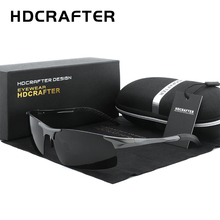 HDCRAFTER Brand Driving Goggle Sunglasses Men Polarized Sun Glasses Women Aluminum Magnesium Men's sunglasses Gafas De Sol