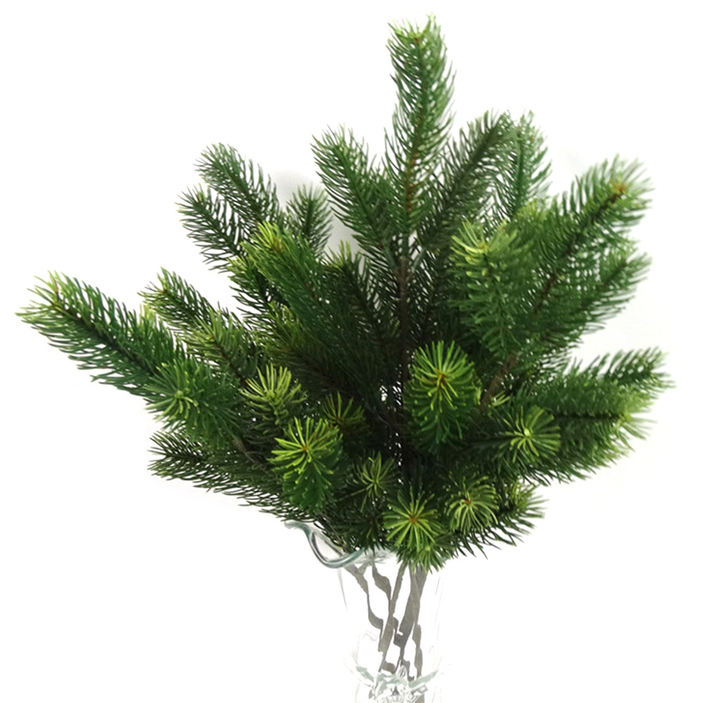 Image 4 - 48cm Artificial Plants Pine Branches Christmas Tree Wedding Decorations DIY Handcraft Accessories Children Gift Bouquet-in Artificial & Dried Flowers from Home & Garden