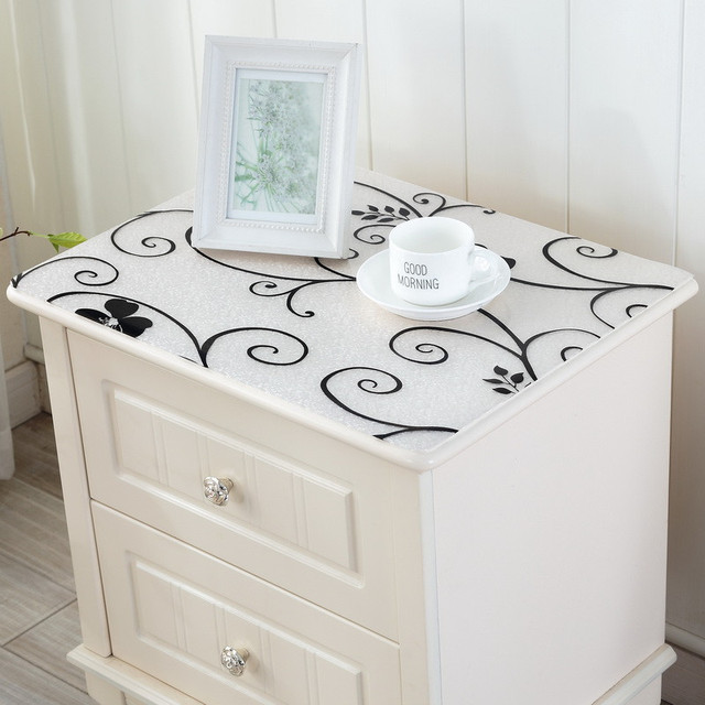 New Fashion Bedstand Table Cloth With PVC Material High Quality Waterproof  Bed Side Plastic Table Cover
