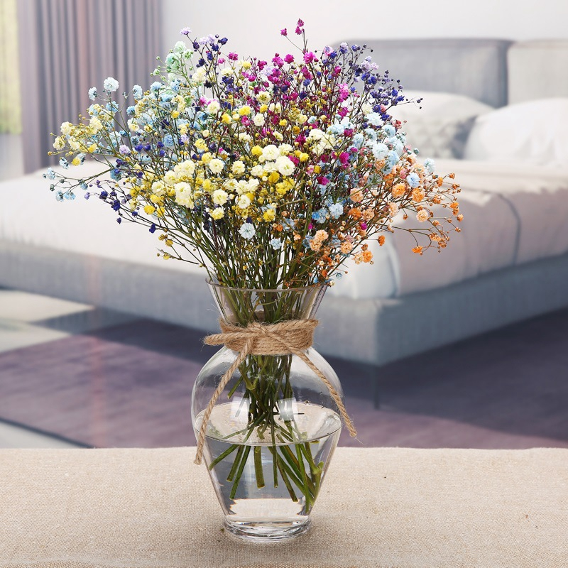 3 Размеры прозрачный Стекло ваза с пеньковой веревкой современный Стекло ваза украшения дома номер цветочные композиции чашка живот ваза д...