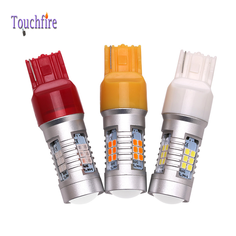 10pcs/lot high power 7440 Bulb 2835smd Tube Auto Wedge led fog lights 12v Width Interior Signal brake Reverse Lighting Car