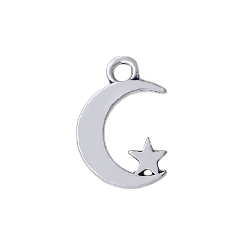 Auxauxme Charm Star Moon Necklace Stainless Steel Religious Jewelry Arabic Muhammad Islamic Choker Necklace For Women Chain Necklaces Necklaces & Pendants