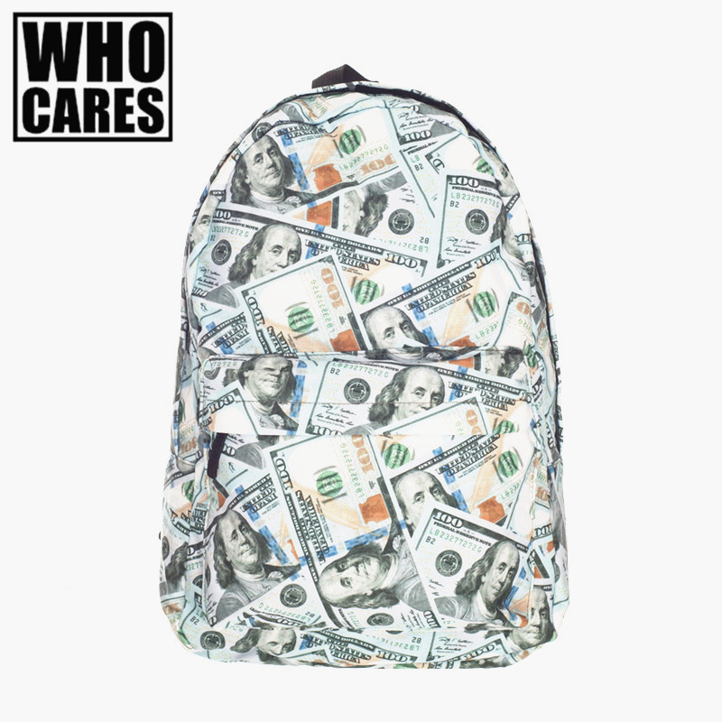 2016 Fashion Dollar Printed backpack Women Bag Daily Traveling five nights at freddys backpacks school bags for teenagers
