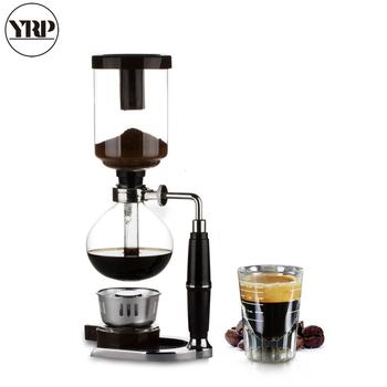 YRP styl japoński dzbanek do kawy syfon 3 5 kubki syfon czajnik do zaparzania kawy metodą drip filtr próżniowy Pot Cafetera TCA-3 5 syfon ekspres do kawy tanie i dobre opinie 0 45l STAINLESS STEEL Syfon Garnki 11*15*34cm 1000g 1200g Black 300ml 360ml 500ml HX-001