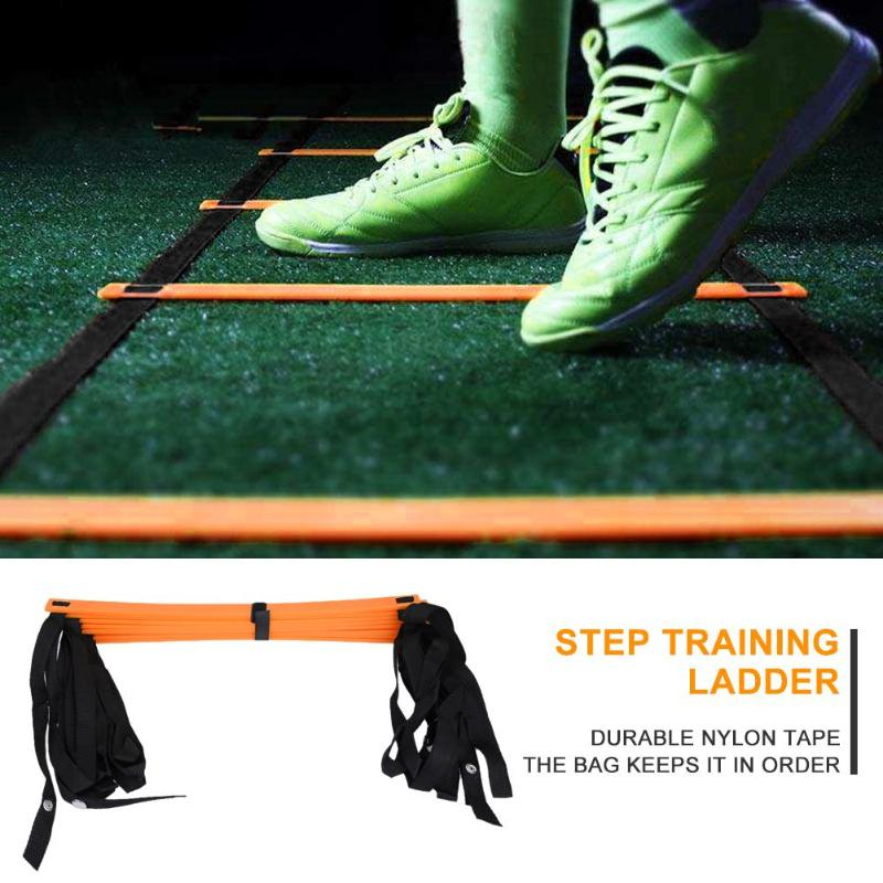 6/7/8/9/12/14 Rung Nylon Straps Training Ladders Agility Speed Stairs For Soccer Football Fitness Sports Staircase Equipment