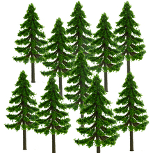 Free Shipping  100PCS Green Fir Trees Model Park Street forest Landscape Scenery Layout 7CM